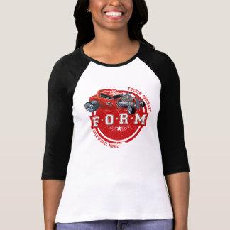 F.O.R.M HotRod Damen 3/4 HülseRaglan T-Shirt