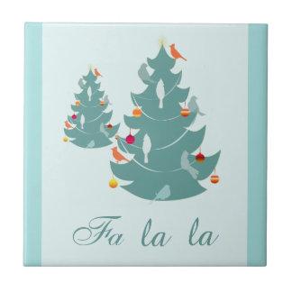 Fa-La-La-Tier-Weihnachten Keramikfliese