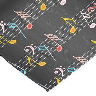 Fab Musiknoten auf Schwarzem Kurzer Tischläufer