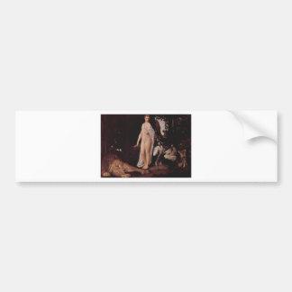 Fabel durch Gustav Klimt Autoaufkleber