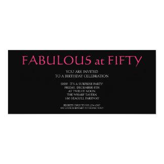 fabelhaft bei fünfzig; Geburtstag 10,2 X 23,5 Cm Einladungskarte