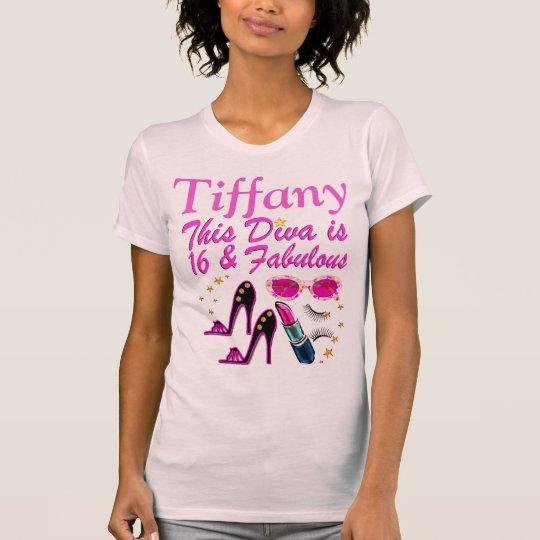 FABELHAFTE 16. GEBURTSTAGS-DIVA-PERSONALISIERTES T-Shirt