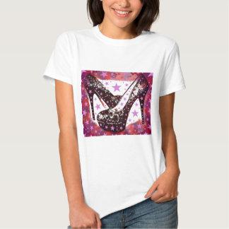 Fabelhafte bezaubernde hohe Heels-und Stern-Mädche T-shirts