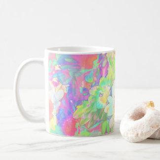 Fabelhafte Blumen-nette helle farbige Kaffeetasse