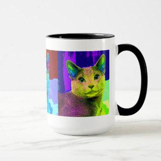 Fabelhafte Pop-Kunst-Katze Tasse