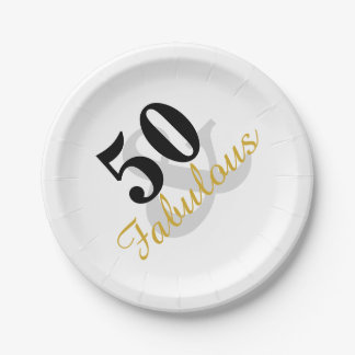 Fabelhafter 50. Geburtstags-Party-Papier-Teller Pappteller 17,8 Cm
