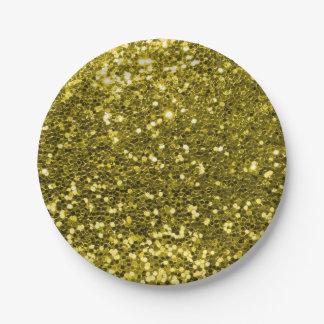 Fabelhafter GoldImitat-Glitter-photographischer Pappteller