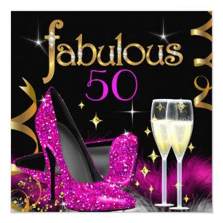 Fabelhaftes 50 Party-rosa hohes Karte