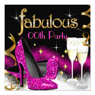 Fabelhaftes Champagne-Party-Glitter-Rosa-hohe Karte