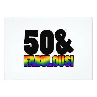 Fabelhaftes Homosexuell-50. Geburtstag 12,7 X 17,8 Cm Einladungskarte