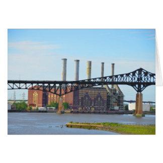 Fabrik hinter der Brücken-Karte Karte