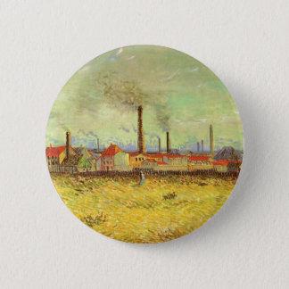 Fabriken bei Asnieres durch Vincent van Gogh Runder Button 5,1 Cm