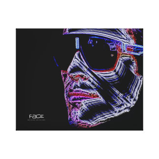 FACE - Digital Artwork Jean-Louis Glineur Leinwanddruck