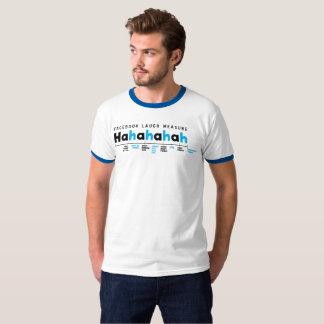 Facebook Lachenmaß HaHaHa lustiger T - Shirt