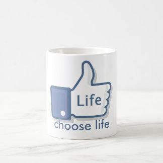 Facebook mögen Leben Daumen-Oben Tasse