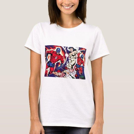 Fackel-Mann und Fackel-Junge T-Shirt