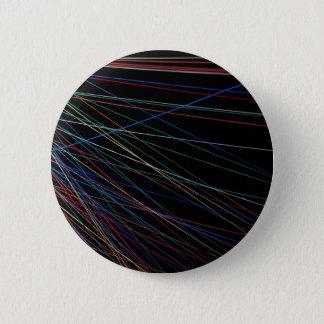 Fadenlinien von einem Sommerfestival Runder Button 5,7 Cm