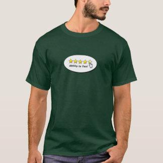 Fähigkeit zu prüfen T-Shirt