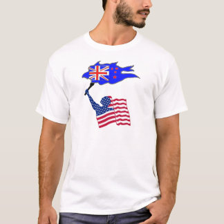 FAHNE DIE USA NEUSEELAND .PNG T-Shirt