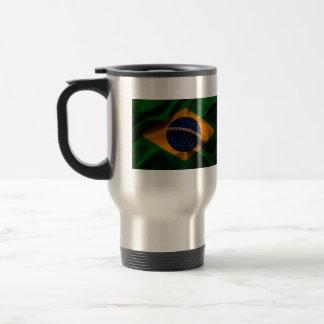 Fahnenschwenkende Seide Brasiliens Reisebecher