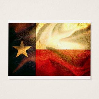 Fahnenschwenkende Seide Texas Visitenkarte