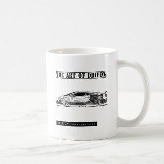 Fahren des Kunst-Sport-Autos Teetassen