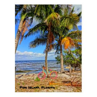 Fahren Sie auf den Strand - Kiefern-Insel Florida Postkarte