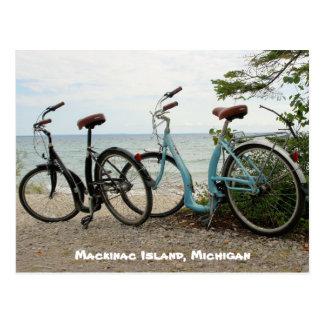 Fahren Sie die Insel - Mackinac Insel, Michigan Postkarte