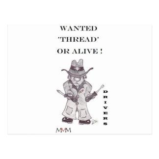 Fahrer der Cowboy - gewollter Faden oder lebendig Postkarte