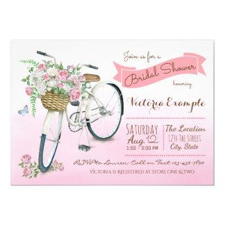 Fahrrad-Brautparty-Vintages Fahrrad Karte