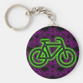 Fahrrad, Fahrrad, Neon, Grün, Rosa, lila Schlüsselanhänger