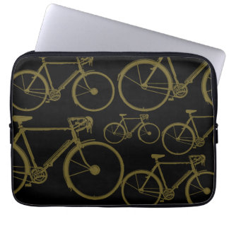 Fahrrad, Fahrräder, fahrend rad Laptopschutzhülle
