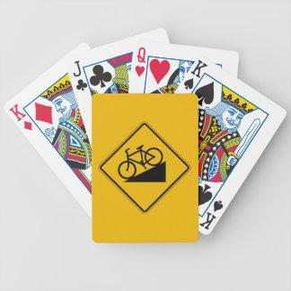 Fahrrad-Hügel, handeln Warnzeichen, USA Bicycle Spielkarten