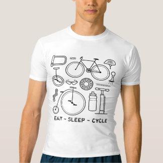 Fahrrad-Ikonen-Vintages Fahrrad-Druck-Radfahren T-shirt