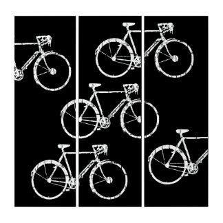 Fahrrad-inspirierte, grafische u. coole b&w triptychon