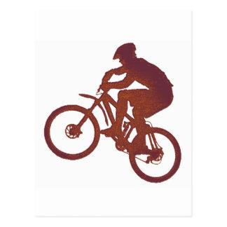Fahrrad-lange Ausdehnung Postkarte