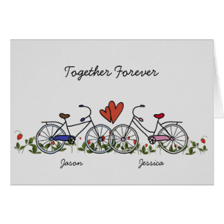 Fahrrad-Liebhaber verbindet Valentinsgruß-Karte Grußkarte
