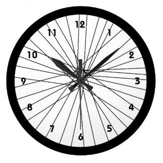 Fahrrad-Raduhr mit Zahlen Uhr