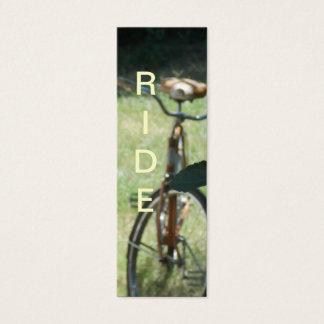 Fahrrad-Reiter-Lesezeichen Mini Visitenkarte