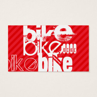 Fahrrad; Scharlachrot Rot-Streifen- Visitenkarte