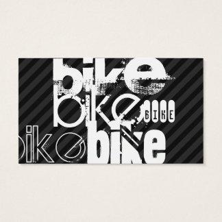 Fahrrad; Schwarze u. dunkelgraue Streifen Visitenkarte