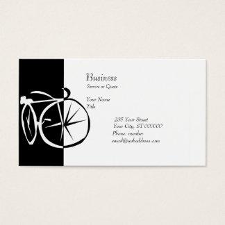 Fahrrad-Schwarzweiss-Fahrrad-Radfahren Visitenkarte
