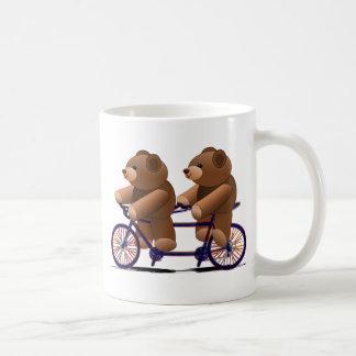 Fahrrad-Tandem, Teddybär-Druck Tasse