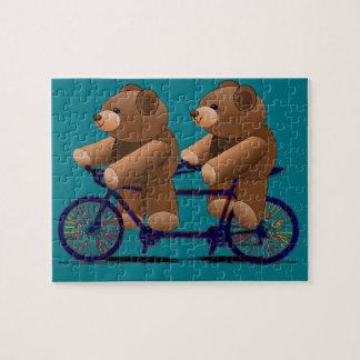 Fahrrad-TandemTeddybär-Druck