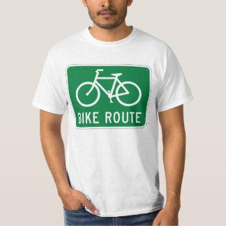 Fahrrad-Weg-radfahrenweg-Fahrradweg-Verkehrsschild T-Shirt