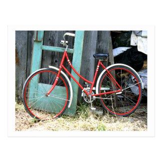 Fahrrad-Zyklus-radfahrende radfahrende alte Halle Postkarte