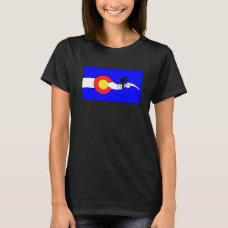 Fahrradcolorado-Flaggen-T - Shirt der Frauen