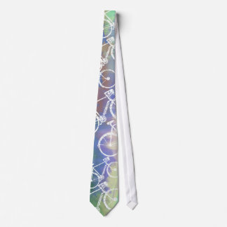 Fahrräder auf Aquarell Bedruckte Krawatten