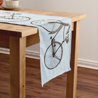 Fahrradfahrradfahrradtabellenläufer-Braunblau Großer Tischläufer
