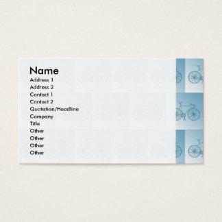 Fahrradmuster Visitenkarte